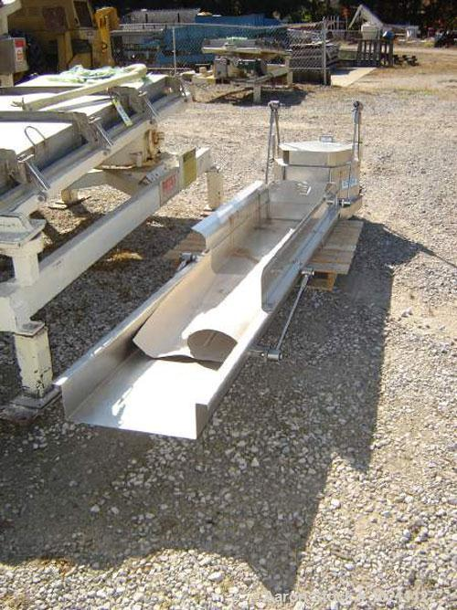 "Used-18"" X 9' Smalley Stainless Vibrating Conveyor. Stainless steel food grade construction. 5"" deep pan with extended side ..."