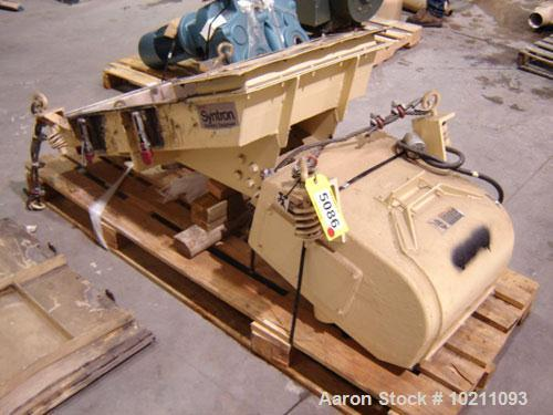 "Used-24"" X 48"" Syntron Electro-Magnetic Feeder-Screener, Model SF-380-D-D-T. 24"" wide X 48"" long, single deck. Feeder # 3; F..."