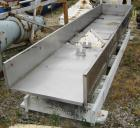 "Used-30"" Wide x 13'-6"" Long x 11"" High Stainless Steel Cardwell Vibrating Conveyor, Model VC-1659. No motor included. Drive ..."