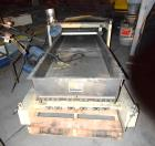 Used- Eriez Vibrating Conveyor, Model VMC-30, Style 200707403. Stainless steel pan approximate 30