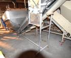 Used- Inclined Rubber Belt Conveyor. Approximate 12