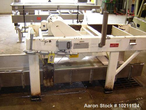 "Used-24"" X 10' Vibe-O-Vey Stainless Vibrating Conveyor. 9"" Deep pan.  Size 24 X 10, model VC-1659. 445 rpm. Overhead suspend..."