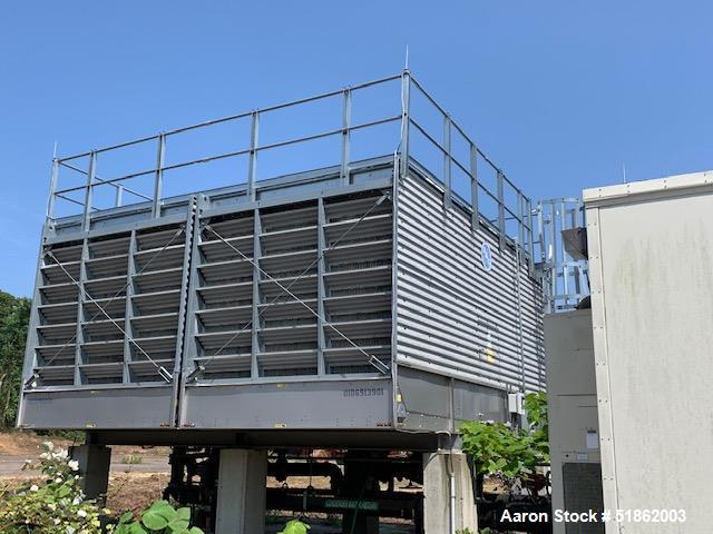 Used- B.A.C. Baltimore Aircoil Company 3000 Series Single Cell Cooling Tower, (1) Cell Only. 3412C, 412 Tons. 25hp Fan, rate...