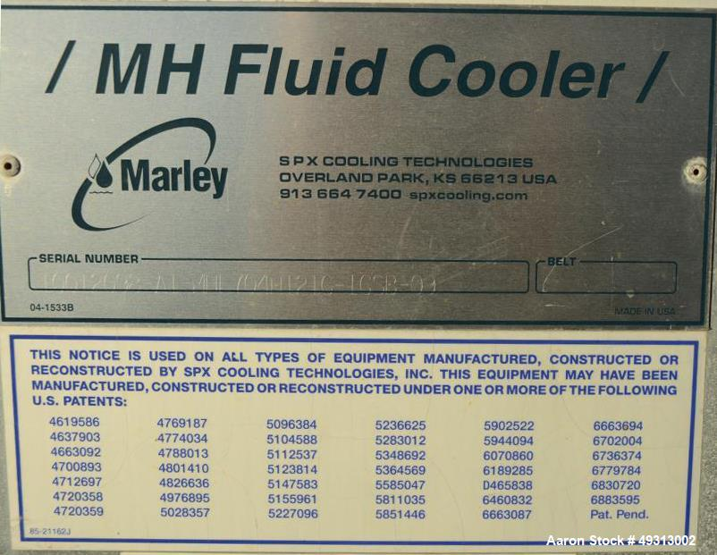 Used- MH Fluid Cooler, Model MHF704H121G-1GSB