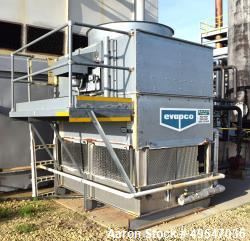Used- Evapco Induced Draft Counterflow Cooling Tower, Model AT 19-56, Galvanized Steel. Nominal capacity 112 ton, 5hp fan mo...