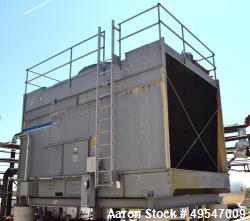Used- Marley 220 Series Single Cell Cooling Tower, Approximate 504 Ton, Model 222-611. Galvanized steel housing. Top mounted...