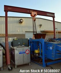 """Wallace 7.5 Ton Gantry Crane, Model 1516-15. Carbon steel frame approximate 170"""" wide x 149"""" tall. ..."""