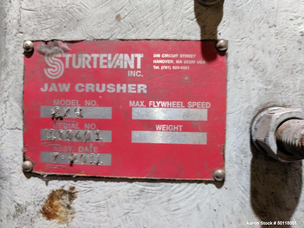 Used- Sturtevant Jaw Crusher