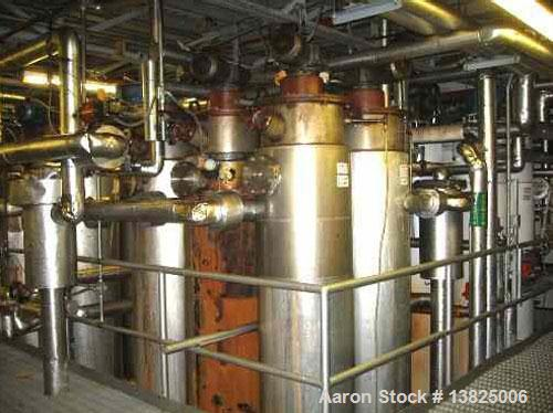 Used-Fractionation system supplied by DeSmet. Includes 6 vertical stainless steel crystallizers and Filox  membrane filler (...