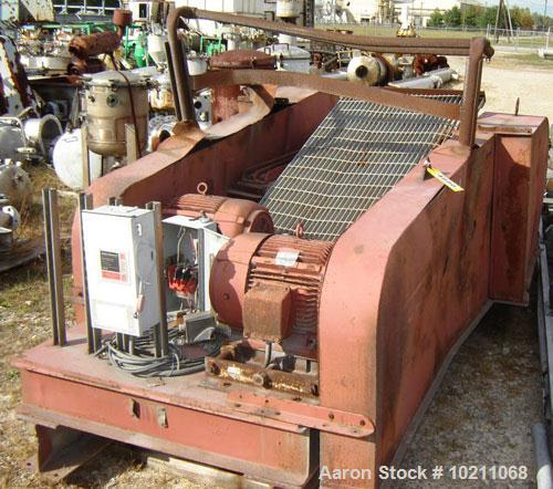 "Used-Gruendler Dual Roll Crusher.  Rolls are 24"" wide X approximately 16"" diameter. Each roll is driven by a separate 15 hp,..."