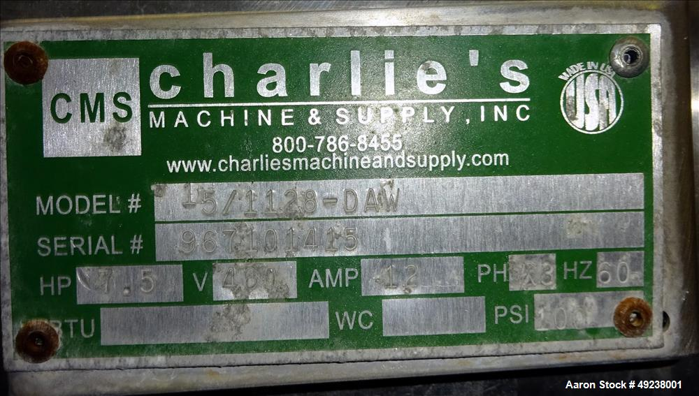 Used- (CMS) Charlies Machine & Supply Inc. Dual Apple Core/Wedger