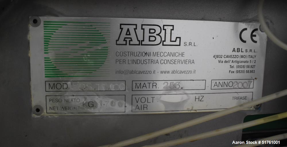 ABL Apple Peeling, Corer and Washing Line