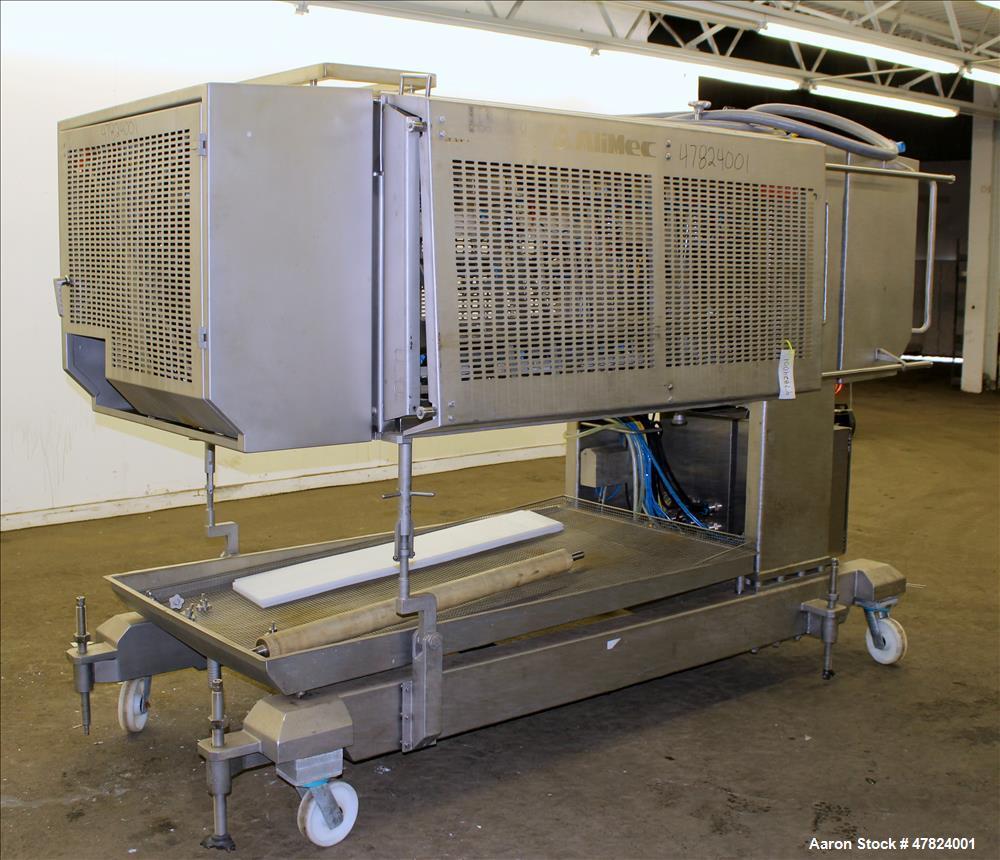 Used- Alimec Pepperoni Slicer, Model SLICER, Stainless Steel.