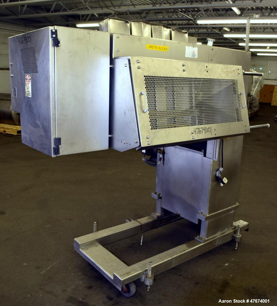 Used- Grote Model S/A-530 Single Lane Slicer/Applicator.