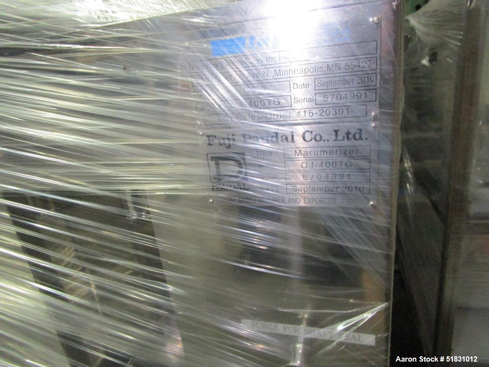 Used-Fuji Paudal Marumerizer spheronizer, model QJ400TG, stainless steel construction, with 2.0 mm grooved spheronizing plat...
