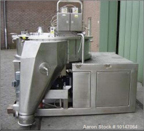 Used-Glatt Systemtechnik GmbH Dresden Noduliser/Spheronizer, type P-140. Material of construction is 316Ti (1.4571) stainles...