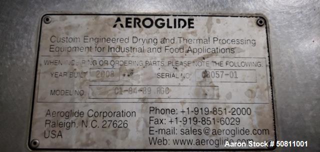 Used- Aeroglide Dryer-Cooler, Model C1-84-89RGC
