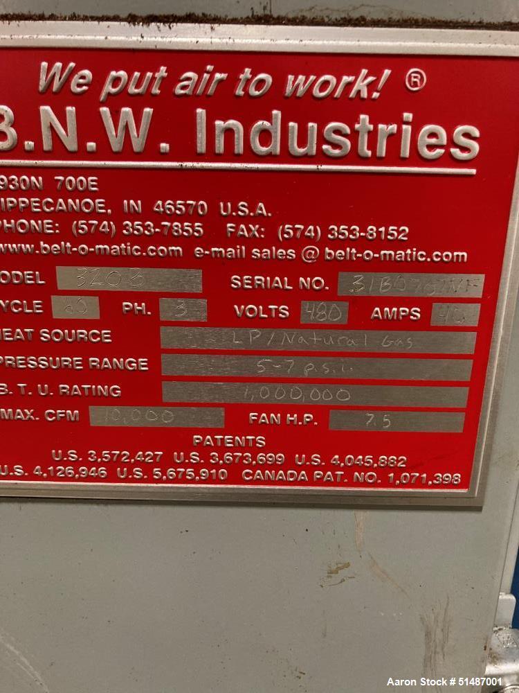 Used- Belt O Matic Single Pass Belt Dryer