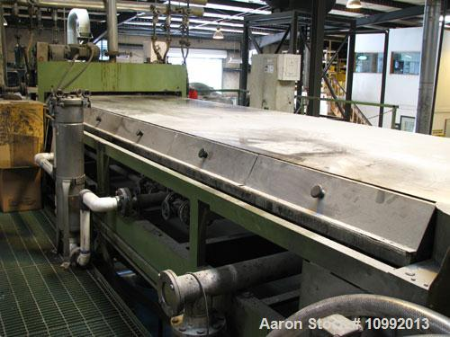 "Used-Kaiser/Berndorf 59"" Wide x 20' Long Stainless Steel Belt Flaker. Belt new in 2005, sporadic use since then. 4 hp variab..."