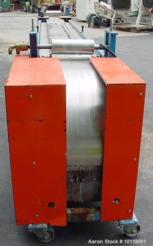 "Used-Sandvik Belt Cooler (Sandvik Process Systems) 12"" x 16' long with polished stainless steel belt. Dual 12"" wide x 4.5"" d..."