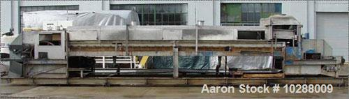 "Used-Sandvik 48"" x 30' (360"") Stainless Steel Belt Flaker. 48"" wide x 30' long center to center of pulley. 2 hp variable spe..."