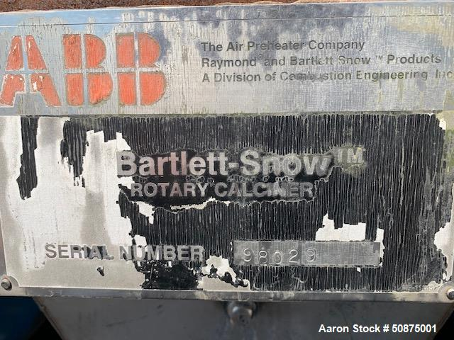 Used- C E Raymond Bartlett-Snow Rotary Calciner.