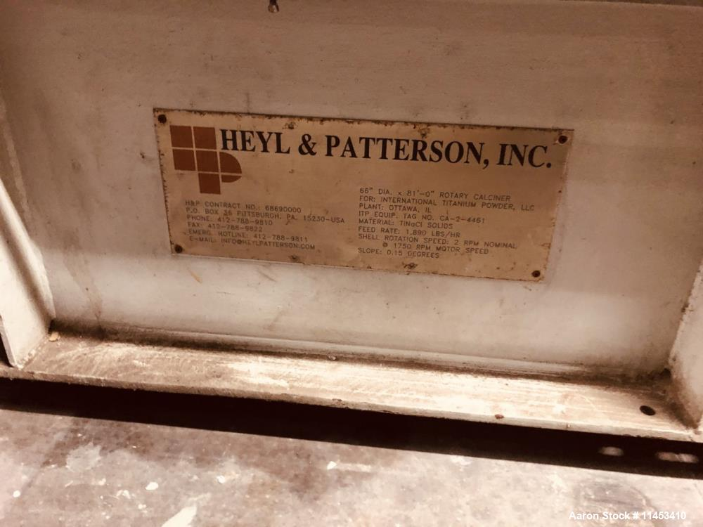 Used- Heyl & Patterson Calciner