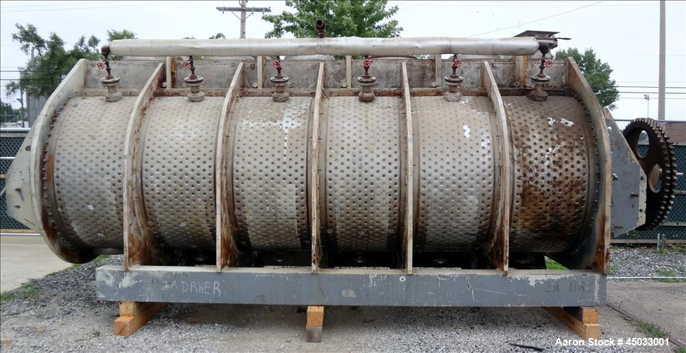 Used- Stainless Steel Rietz / Bepex Torus Disc Dryer, Model TDJS-60-17