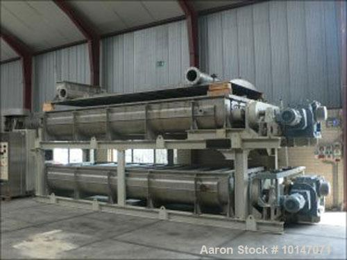 Used- Stainless Steel Kollemann Adenau Torus Disc Dryer, AJK-QTHSF-DN600