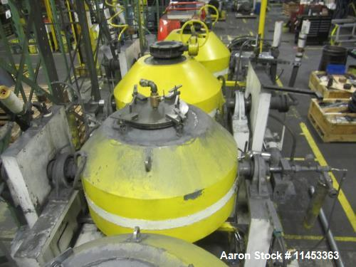Used- 10 Cubic Foot Abbe Double Cone Vacuum Dryer. Stainless steel construction.