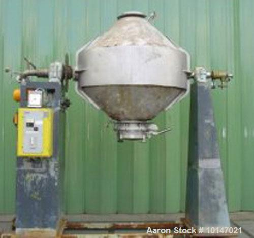 Used- Stainless Steel Klein/Henkhaus Double Cone Tumbler Dryer