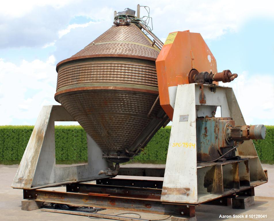 Used- Komline-Sanderson Double Cone Vacuum Dryer