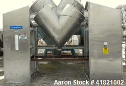 Used- Gemco Twin Shell Vacuum Dryer, Model Formulator