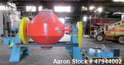 Used- Paul O. Abbe Rota-Cone Vacuum Dryer. Approximate 20 cubic feet working capacity, stainless steel on product contact ar...