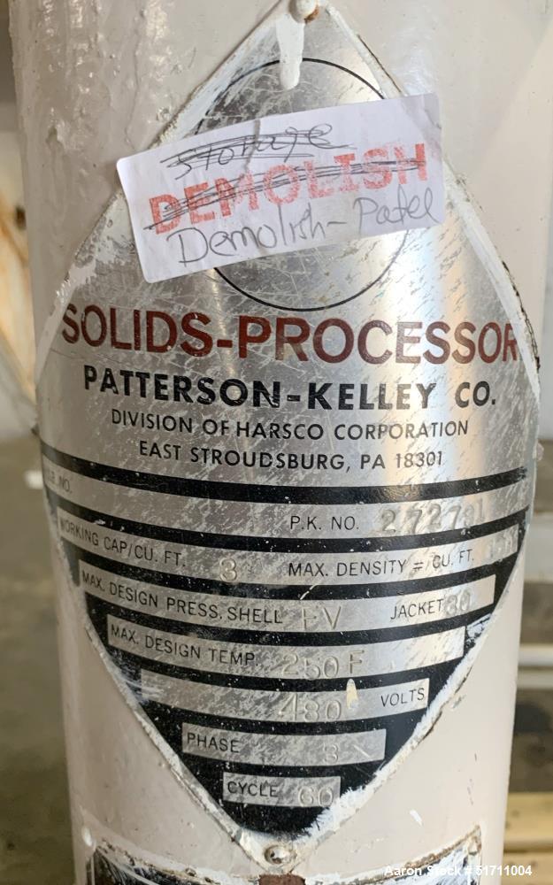 PK Patterson Kelley Twin Shell 3 Cubic Foot Solids Processor
