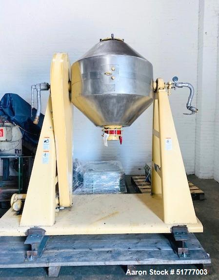Used-Paul O. Abbe Model RCD-36 Rota-Cone Vacuum Dryer. 9 Cubic Foot Working