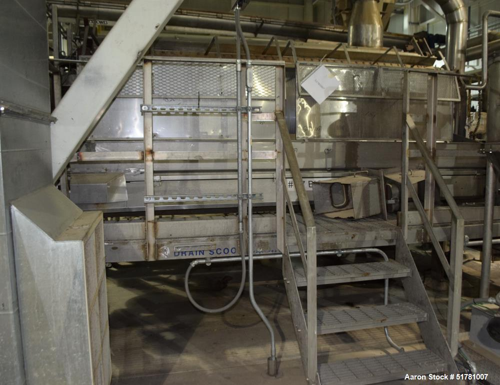 """Used- Double Drum Dryer. (2) Approximate 42"""" diameter x 120"""" face chrome plated rolls. Each rated 160 psi at 450 degrees F.,..."""