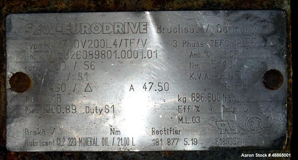 Used- Andritz / Gouda Single Drum Dryer, Model E15/30.