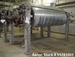 """Used- Double Drum Dryer. (2) Approximate 42"""" diameter x 120"""" face chrome plated rolls, each rated 160 psi at -20 to 650 degr..."""