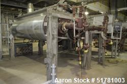 """Used- Double Drum Dryer. (2) Approximate 42"""" diameter x 120"""" face chrome plated rolls. Approximate rating 160 psi at 450 deg..."""