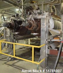 """Used-Double Drum Dryer, 42"""" diameter x 120"""" Face, Chrome Rolls with stand. Setup for use with ancillary equipment."""