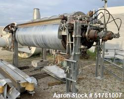 """Double Drum Dryer. (2) Approximate 42"""" diameter x 120"""" face chrome plated rolls. Each rated 160 psi..."""
