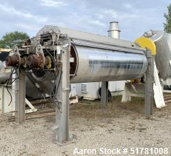 """Double Drum Dryer. (2) Approximate 42"""" diameter x 120"""" face chrome plated rolls. (1) Rated 160 psi ..."""
