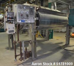 """Used- Double Drum Dryer. (2) Approximate 42"""" diameter x 120"""" face chrome plated rolls. (1) Rated 160 psi at 450 degrees F., ..."""