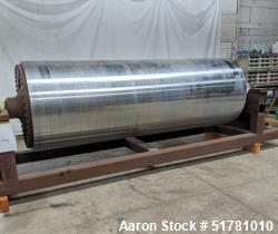 """Used- Single Drum Dryer Roll Only. Approximate 42"""" diameter x 120"""" face chrome plated roll. Rated 175 psi at 32 to 450 degre..."""