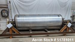 """Used- Single Drum Dryer Roll Only. Approximate 42"""" diameter x 120"""" face chrome plated roll. Rated 160 psi at 450 degrees F.,..."""
