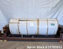 """Rechromed Single Drum Dryer Roll Only. Approximate 42"""" diameter x 120"""" face chrome plated roll. Rat..."""