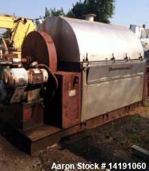 "Used- 60"" Diameter Goslin Birmingham Chrome Plated Drum Flaker. 5' diameter x 7', 10 HP ex-proof varidrive with 3 to 1 speed..."