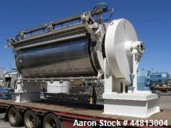 Used- R Simon Stainless Steel Chill Drum Dryer, Model 4718
