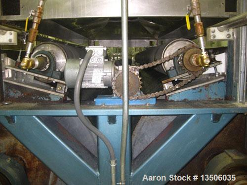 "Used-Phoenix Engineering 40"" Diameter x 144"" Face Double Drum Dryer, chrome rolls 150 psi @ 365 deg F. ASME code. Drum drive..."